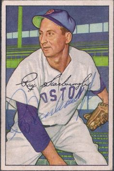 1952 Bowman Ray Scarborough autograph
