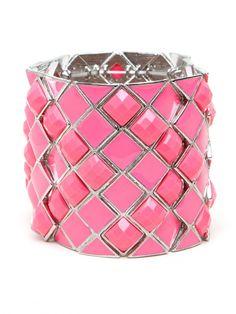 Bright Pink Palm Beach cuff
