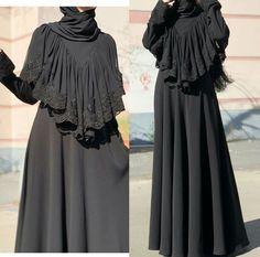 Saree Blouse Neck Designs, Abaya Designs, Dress Neck Designs, Designs For Dresses, Burqa Designs, Arab Fashion, Islamic Fashion, Muslim Fashion, Hijab Style Dress