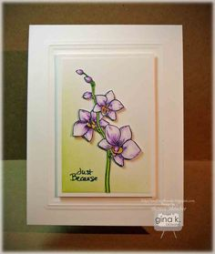 Theresa Momber: Double Embossed Border Card - GDK Elegant Florals 2 - Fill It With Flowers Stamp Sets