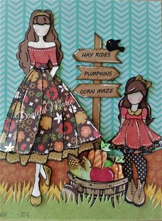 Journal page- Camille- little girl dolls By Daniela Alvarado.