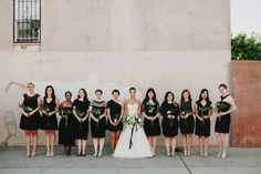 Black mismatched bridesmaid dresses | Photo by Lev Kuperman
