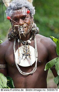 Primitive people, Santa Cruz Island, Solomon Islands, Melanesia, Oceania
