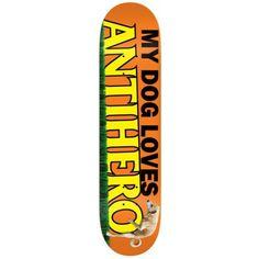 Anti Hero Skateboard Deck - Doggy Small Orange 8.12 IN