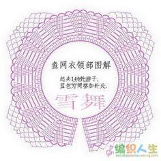 Receitas de Crochet: Bolero redondo