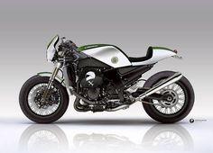 Kawasaki ZX14R Cafe Racer by Kentauros design #motorcycles #caferacer #motos | caferacerpasion.com