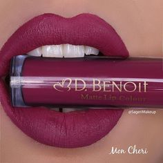 @dbenoitcosmetics Mon Cheri Liquid lipstick ❤️ Everyone in the U.K. Can order…