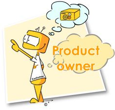 The product owner is a key role most of the time fullfilled by an empowered customer to decide on what the business wants and to prioritise in which order so that maximum business value can get implemented within the agreed budget. This role is preferrable a full time role and this person should sit within the team as part of the team.