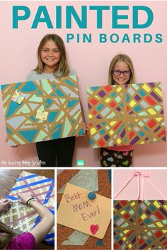 Make your own geometric decor and crafts! Geometric designs are on trend and you can join in with these easy DIY tutorial ideas.