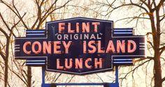Flint Original Coney Island by Signs Along the Way