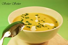 Crema de puerros y curry | Receta de Sergio