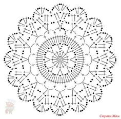 simple crochet doily or coaster Crochet Mandala Pattern, Crochet Circles, Crochet Doily Patterns, Crochet Blocks, Crochet Diagram, Crochet Round, Crochet Chart, Crochet Squares, Crochet Home