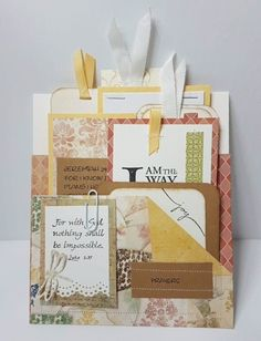 My sister in law, Janell, loves to work in her scrapbook room making cards and pl. Bible Bookmark, Bookmarks, Prayer List, Just Because Gifts, Pocket Letters, Pocket Cards, Prayer Cards, Scrapbook Embellishments, Christian Gifts