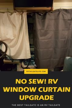 Upgrade your RV Window Curtains without sewing! Blackout drapes are so much better!