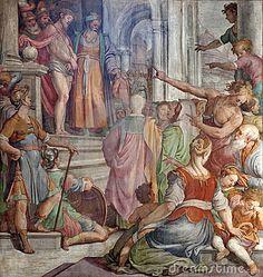 Rome - Jesus Christ for Pilatus from Santa Prassede church