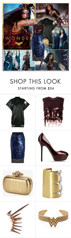 """Wonder Woman : )"" by thisiswhoireallyam7 ❤ liked on Polyvore featuring Faith Connexion, Marni, By Malene Birger, Sergio Rossi, Alexander McQueen, Vince Camuto, PL by Peter Lang and Alex and Ani"