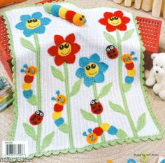 Uncinetto & Crochet ~ No pattern ~ Inspiration. A beautiful must do quilt Baby Afghan Crochet, Crochet Blanket Patterns, Crochet Blankets, Knitting Patterns, Crochet Crafts, Crochet Projects, Quilting, Stuffed Toys Patterns, Baby Knitting