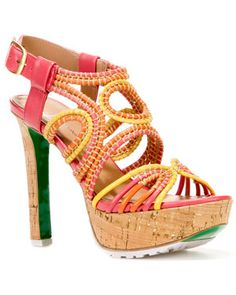 Lisa Pliner 'Danisa' Leather Platform Sandal