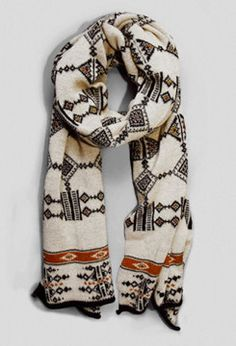 tribal printed scarf for fall