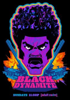 Black Dynamite - Best New Show on TV Black Light Poster Design