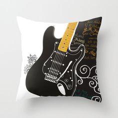 Guitarra Electrica Cojin Personalizado Funda 40x40 45x45 o 50x50 y mas medidas musica grupo Banda Regalo Mujer Joven