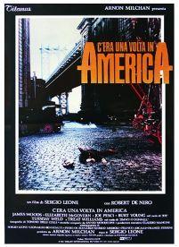 plakat na ścianę o wymiarach 70x100 cm reklamujący gangsterski film Onse upon A Time in America/ Dawno temu w Ameryce