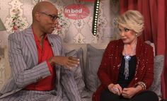 Here I am in bed with the wonderful RuPaul!