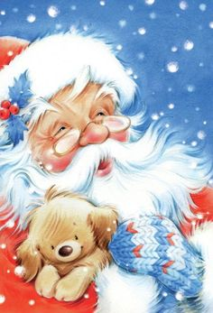 Nikolaus, Weihnachtsmann, Santa Claus The Effective Pictures We Offer You About Decoupage candles A quality picture can tell you many things. You can find the most beautiful pictures that can be prese Christmas Puppy, Father Christmas, Santa Christmas, Vintage Christmas, Christmas Crafts, Christmas Time, Illustration Noel, Christmas Illustration, Christmas Drawing