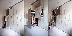 8 sqm Parisian Apartment with Hidden Facilities - iCreatived