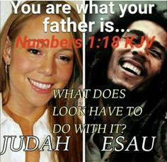 Mariah: black (Hebrew dad, White mother). She is Judah of  Jacob. Marley: White dad and black mother. He is from Esau. Watch out for all the looks non sense. Do not be fooled by IT. STILL the bible speaks against interracial MIXING!!!! Because gentiles  in marriage lead is AWAY from the Most High God of the bible. Stick with your OWN race. Like God intended. Also do NOT forget that famous rich people sold their soul to Satan in order to get THIS status. #HebrewIsraelites TRUTH #ISRAELisBLACK