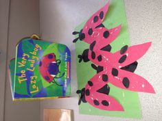 Lady bug toddler art for spring themes