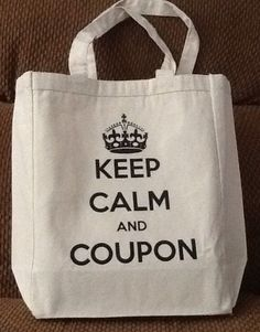 Keep Calm and Coupon canvas tote bag by DebsCoupons on Etsy