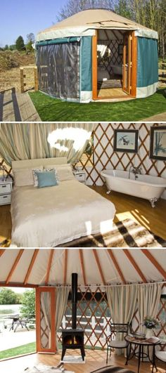 Garden room with dreamy bed!