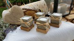 Teelichthalter aus Beton, 4er Set quadratisch von Moosglöckchen ... mit Liebe gemacht... auf DaWanda.com