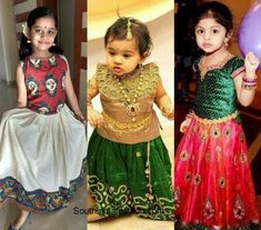 Wedding fashion for kids – A Guide Kids Lehanga Design, Lehanga For Kids, Golden Lehnga, Mother Daughter Dresses Matching, Festival Dress, Western Dresses, Half Saree, Wedding Styles, Designer Dresses