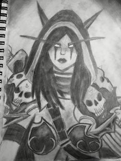 My final drawing of Sylvanas Windrunner