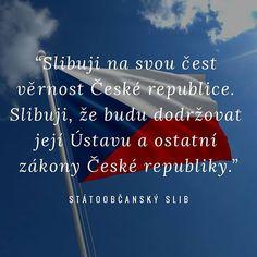 Dneska todle se děje...  Today this is going on... (pledge of allegiance to the Czech Republic) . . #pledgeofallegiance #czech #czechrepublic #statoobcanskyslib #ceskarepublika #cech #cesko