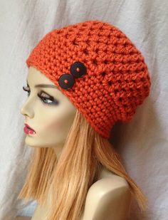 Gorgeous Pumpkin Orange (shown) Slouchy Beret 5e2094fb87c7