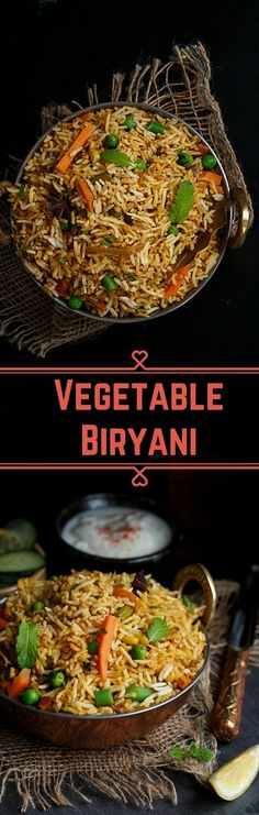 Full Proof Easy Vegetable Biryani Recipe that will leave your guest lip smacking veg recipes Veg Recipes, Easy Healthy Recipes, Indian Food Recipes, Asian Recipes, Healthy Snacks, Vegetarian Recipes, Easy Meals, Cooking Recipes, Arabic Recipes