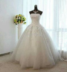 Price tracker and history of Hot Sale Wedding dress 2016 Tulle Applique Ball  gown Vintage Bridal Gown Vestido de noiva 2016 3867e5b01822