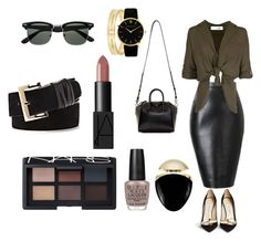 """""""Dark Neutrals"""" by karla-snyders on Polyvore featuring Jimmy Choo, Givenchy, OPI, NARS Cosmetics, Larsson & Jennings, Vince Camuto and Bulgari"""