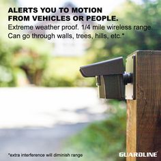 Guardline ¼ Mile Long Range Wireless Driveway Alarm Outdoor Weather Resistant Motion Sensor & Detector- Best DIY Security Alert System- Monitor & Protect Outside Property, Yard, Garage, Gate, Pool Home Security Tips, Wireless Home Security Systems, House Security, Security Alarm, Driveway Alert, Alarm System, Motion Detector, Do It Yourself Home