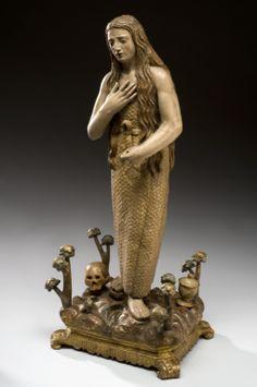 Statue of St Mary Magdalene, Spain, Santa Maria, Gospel Of Mary, Alabaster Jar, Medieval, Sacred Feminine, Divine Feminine, Wooden Statues, Peter Paul Rubens, Mary Magdalene
