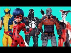 Sorteio /  Brinquedo SURPRESA Ladybug Wolverine Agente Venom Pistoleiro ...