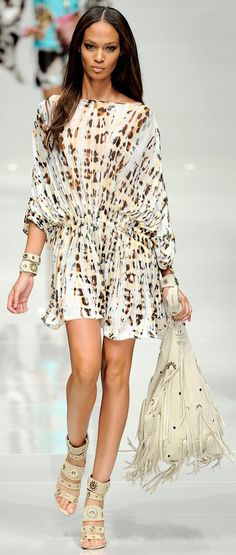 Blumarine Spring spring 2011/12 Ready-To-Wear Animal Print Dress