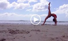 """Here is one of our favorite yogis, Meghan Currie, in what might be the most beautiful, impromptu, beach yoga sequence we have ever seen. The track is """"L"""