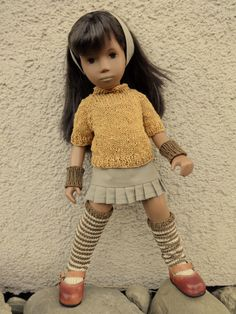 Pippi Langstrumpf Sasha Doll, Thing 1, Clay Dolls, Baby Born, Knitted Dolls, Girl Doll Clothes, Smock Dress, Vintage Dolls, Beautiful Dolls