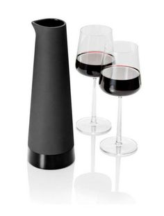 Sleek Ceramic Wine Carafe for with my UFO black crystal wine goblets. AWESOME!