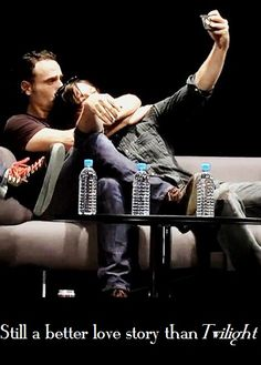 Rickyl! TWD. The Walking Dead. Better love story. Rick grimes. Daryl Dixon. Andrew Lincoln. Norman Reedus.