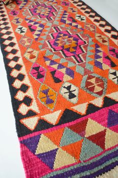 NO SALE / VINTAGE Turkish Kilim Rug Carpet  handwoven by sukan, $1,960.00